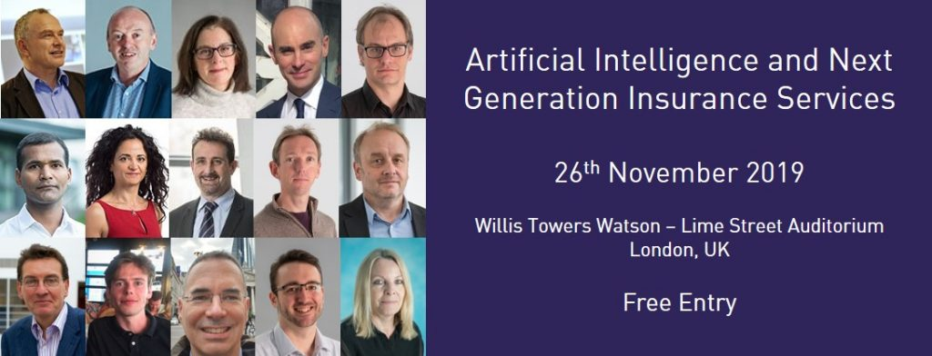 Artificial Intelligence and Next Generation Insurance Services (Event)