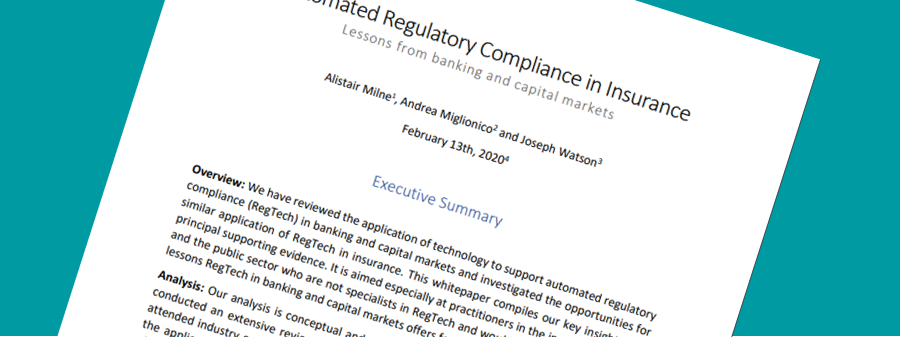 Automated Regulatory Compliance in Insurance