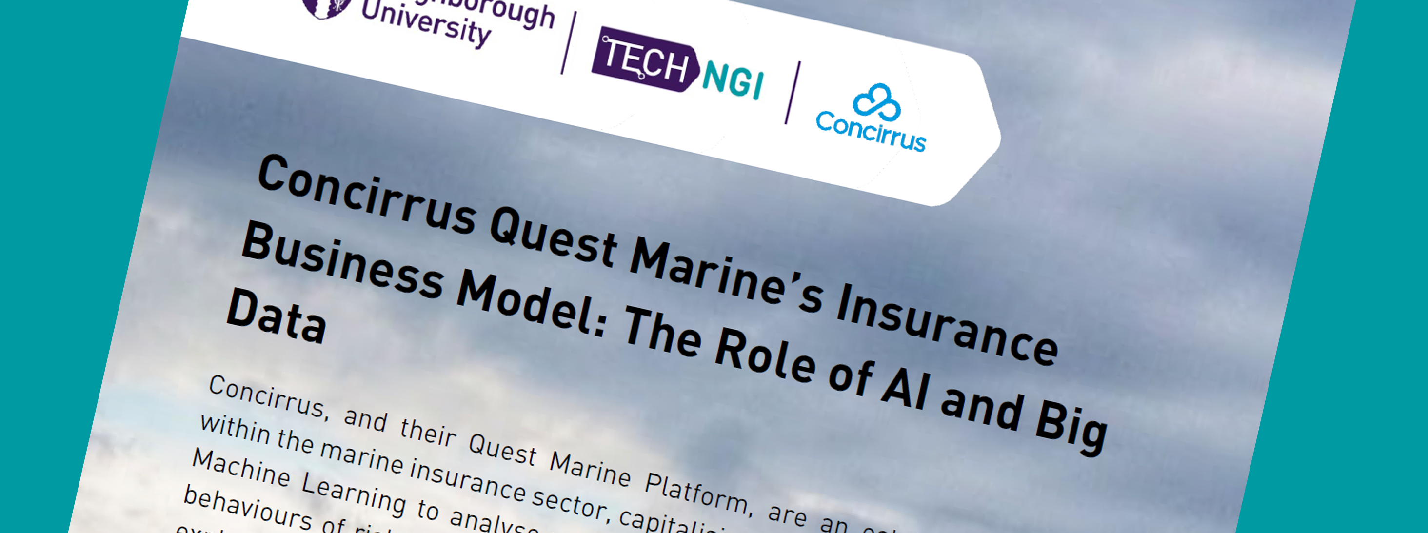Concirrus Quest Marine's Insurance Business Model: The Role of AI and Big Data